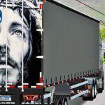 Skins Reboque Sider Cinza COM PINTURA ESPECIAL TAMPA TRASEIRA 'JESUS'