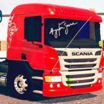 Skins Scania Pzinha Vermelha Exclusivo 'HOMENAGEM AO AYRTON SENNA'