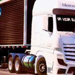 Skins Mercedes Benz Actros Branco TOP NO Bau 'QUALIFICADO'