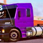 Skins Scania 113 Roxa No Bau Personalizado 'MAIS QUALIFICADO'