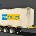 Skins Reboque Porta Container P&o Nedlloyd 'EXCLUSIVA'