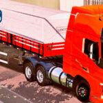 Skins Volvo FH16 Laranja na Carreta Graneleiro 'QUALIFICADO'