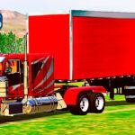 Skins Caminhão Americano Peterbilt Grafitado No Bau Vermelho 'QUALIFICADO'