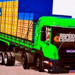 Skins Scania Pzinha Verde Claro 'MAIS TOP VERDUREIRO'