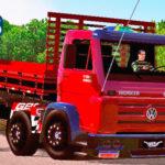 Skins VW Titan Vermelho Com Adesivos 'QUALIFICADOS' VERDUREIRO