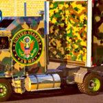 Skins KENWORTH K100 Pintura Especial Militar no SIDER