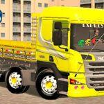 Skins Scania Pzinha Amarela Com Faixas personalizadas 'Qualificada'