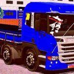 Skins Scania Pzinha Azul 'Qualificada Verdureira'