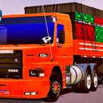 Skins Scania 113 Laranja na Carretinha 2 Eixos MAIS QUALIFICADO