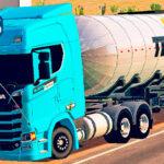 Skins Scania S Azul 'EDITION BLUEFUN' NA CARRETA TANQUE CONJUNTO TEGMA