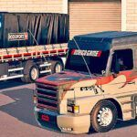Skins Scania 113 GRAFITADA ESPECIAL NA CARRETA 2 EIXOS 'MAIS TOP'
