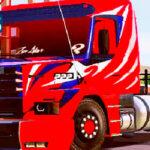 Skins Scania 113 Grafitada em Vermelha 'MAIS QUALIFICADA'