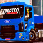 Skins Ford Cargo Modelo Novo Azul 'EXCLUSIVA' (Skin para volvo Vm)