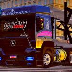 Skins Mercedes Benz Axor Preto na Cegonha 'ESTILIZADO'