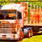 Skins Scania 113 Frontal Branca No Bitrem 'CONJUNTO TODO VELHO ENFERRUJADO'