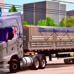 Skins Scania S Qualificada Cinza na Granel Tampa Alta Lonada 'EXCLUSIVA'