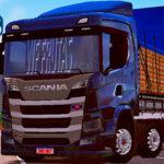 Skins Scania P320 Black WF FRUTAS