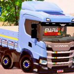 Skins Scania P320 Azul Clarinho Top Estilo VERDUREIRO