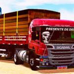Skins Scania Pzinha Vermelha Qualificada na Carretinha 2 Eixos