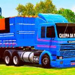 Skins Scania 113 Frontal Pintura Clássica Azul No Bitrem Tampa Alta