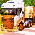 Skins Scania S Branca Toda Suja no Bitrem Basculante