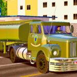Skins Scania 111 Na Carreta Tanque 'CONJUNTO MILITAR'