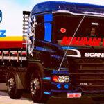 Skins Scania Pzinha Preta Verdureira 'MAIS QUALIFICADA'