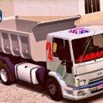 Skins Ford Cargo Prata Qualificado na Caçamba 'FRENTE FORD 816'