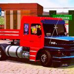 Skins Scania 113 Vermelha Verdureira Com Capo Preto