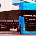 Skins Scania S Azul Ediçao Especial Bluefun Edition no Bitrem Preto