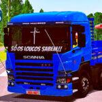 Skins Scania Pzinha Azul Com Frente da SCANIA P94 'QUALIFICADO'