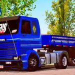 Skins Scania 113 Frontal Azul Classicas Com Faixas originais (ORIGINAL QUALIFICADO)