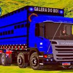 Skins Scania Pzinha Azul Boiadeira na Carroceria Romeu e Julieta 'BEM QUALIFICADO'