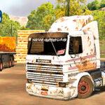 Skins Scania 113 Frontal Branca no bitrem 'TODA SUJA'