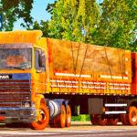 Skins Scania 113 Frontal Laranja No Bitrem Sujo (Baseado na Scania LK)