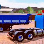 Skins Scania 113 Azul Conjunto Na Caçamba Com Faixas Branca E Adesivo GBN