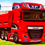Skins Daf XF Vermelho na Caçamba 'TOP'