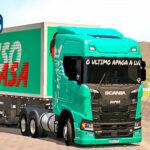 Skins Scania S Verde Bem Clarinho No bau 'EXPRESSO CEASA'