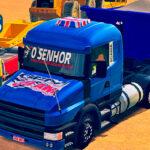 Skins Scania 124 G Qualificada Conjunto Todo Azul na Caçamba