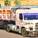 Skins Scania 113 Branca Toda Suja na Caçamba