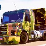 Skins Scania 113 Conjunto Militar na Caçamba