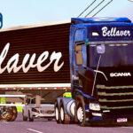 Skins Scania S Conjunto B BELLAVER PRETO