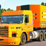 Skins Scania 113 Conjunto Laranja Na Carreta Granel Tampa Alta Carregada de Laranja