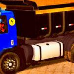 Skins Ford Cargo Azul Escuro e Caçamba Preta Com Adesivo Seu MADRUGA 'TOP'