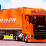 Skins Scania S Conjunto B BELLAVER LARANJA