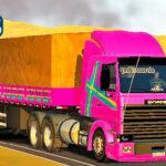 Skins Scania 113 Conjunto Rosa Com Faixas Performance