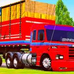 Skins Scania 113 Conjunto Vermelho Com Faixas Azul na Granel Tampa Alta