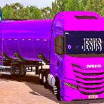 Skins Iveco S Way Roxo Na Carreta Tanque 'CONJUNTO'