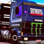 Skins Scania 113 Frontal Preta Toda Qualificada No Bitrem Tampa Alta