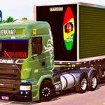 Skins Scania R Verde Com logo Griffin No Bau